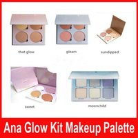Wholesale New Ana Glow Kit Makeup Face Blush Powder Blusher Palette Cosmetic Shades Gleam That Glow Sun Dipped Sweets Moon Child DHL