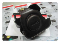 Wholesale camera leather case bag smooth leather bag case cover for Canon G11 G12 case