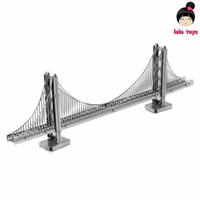 Wholesale Construction Famous buildings over the world D Metal model Puzzles GOLDEN GATE BRIDGE Chinese Metal Earth stainless steel