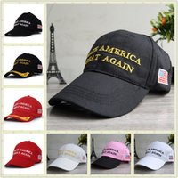 Wholesale MAKE AMERICA GREAT AGAIN Donald Trump Hat Multicolor Embroidery Printing Baseball Cap America President Cap For Man Woman cm