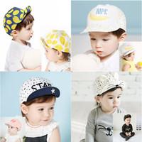 Wholesale Baby Beanie Caps Toddler Infant Skull Hats Kids Boys Girls Cotton Flat Cap Spring Travel Lemon Sun Hat Children Baseball Snapback Church Hat