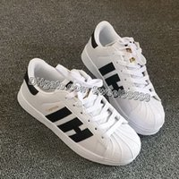 Wholesale Hot Sale Classic Shoes Superstar Men and Women Shoes Mens Womens Super star Sneakers Skateboarding White Casual Shoe Drop Shipping