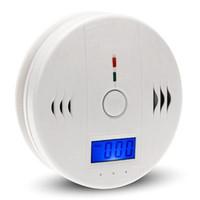 2017 Nuevo 85dB alarma inalámbrica de incendios de humo CO carbono <b>Sensor</b> detector de pantalla LCD de alarma Casa de Seguridad Interior Protecto
