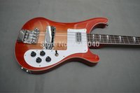 Wholesale Top quality Red color Ricken model Strings electric guitar Bass with Neck through Body China hot selling