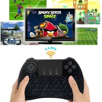 backlight toppings - H9 Rii mini i8 English Version Wireless Backlight Keyboard with Touchpad for S905X S912 A95X Smart Android TV Box Set Top Box PC