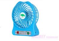 Wholesale 20pcs set USB fashion mini Fan Electric Personal Fans LED Portable Rechargeable Desktop Fan Battery Cooling Operated Fan