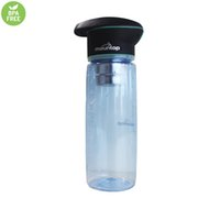 activate gym - Gym Water Bottle With UV Purifier Activated Carbon Satainless Filter SOS Messenger Healthy for Sports