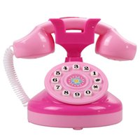 Wholesale Educational Emulational Pink Phone Pretend Play Toys Girls Toy Phone Gifts