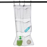 bath times - Bath Time Storage Suction Bag Folding Hanging Mesh Net Bathroom Shower Organiser F2017113