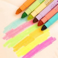 Wholesale South Korea stationery creative lovely solid fluorescence pen Solid jelly pen crude oil marker markers