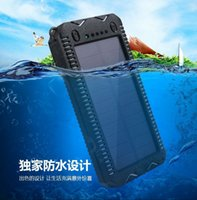 Wholesale The new solar mobile power supply waterproof solar charging treasure mobile phone universal charger manufacturers direct batch