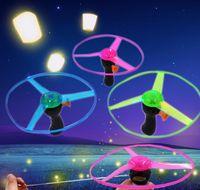 Wholesale LED Flying Disk toys Led Flying Saucer frisbee Luminous UFO toys Outdoor sports flying helicopters LED Flashing toys JF