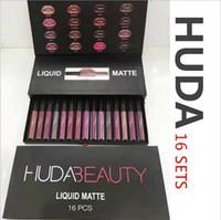 Wholesale DHL Huda Make Up Sexy Waterproof Matte g lip gloss set ANA Makeup Beauty Lipsticks For Gir