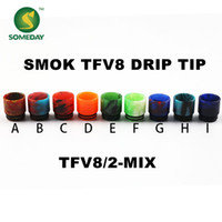 Wholesale Someday factory epoxy resin new stainless steel stone drip tip jade jewelry Turquoise SMOK TFV8 drip tip drip tips