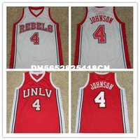 Wholesale high quality LARRY JOHNSON UNLV RUNNIN REBELS BASKETBALL JERSEY Red White Embroidery Stitched Custom Any Name And Number