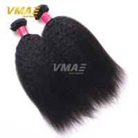 14 pouces de tissages droites France-Mink 7A Yaki Cheveux droits Cheveux bruns bruns Brésilienne Cheveux raides Kinky Weave 8-30 pouces Cheveux naturels Couleur naturelle Livraison gratuite