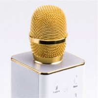 Karaoke Wired Handheld Q7 Wireless Microphone Karaoke Bluetooth Microphone Speaker Home KTV Party Holiday Singing Record For Iphone Android Phone