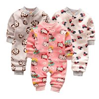 Wholesale Styles for New winter baby boys gril pajamas newborn infant cotton long sleeve Animal sleepwear for chrimas gift warm clothing