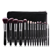 Wholesale 15pcs Professional Makeup Brushes Set Make Up Brushes High Quality Synthetic Hair Cosmetic Tool With PU Leather Case For Beauty Maquillage