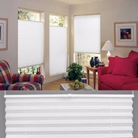 Wholesale Anti UV Window Blinds Pleated Original Pleated White Polyester Shade Curtains OI