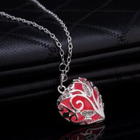 Wholesale Unique Magical Fairy Glow in the Dark Pendant Locket Heart Luminous Necklace colors high quality as gift
