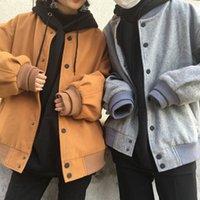 baseball uniform material - Ulzzang Korean more chic qiu dong han edition about baseball uniform material bat sleeve BF jacket female couples coat