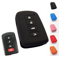 Wholesale TOYOTA FOB CASE TOYOTA CAMRY RAV4 COROLLA AVALON SILICONE REMOTE KEY COVER HOLDER FOB CASE