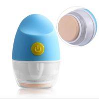 battery blender - 4D Skin Care Electric Powder Puff Vibrating Makeup Blender Puff Powder Puff Massager Handheld color offered
