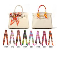 Wholesale New mixcolors colorful fashion twilly scarf handbag handle decoration accessories handbag twilly brand bow hair bands scarves