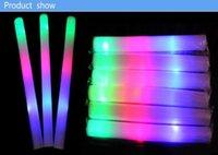 Flash palos palos de luz club de luces al por mayor personalizado llevó palos de luz de colores espuma esponja barra de luz