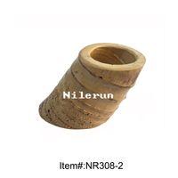 Wholesale bamboo root pen holder flower vase tea accessories holder