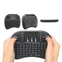 Wholesale Wireless Keyboard Mouse Combo Rii Mini i8 Fly Air Mouse Multi media Remote Control Touchpad DPI For TV Box Tablet with Retail Package