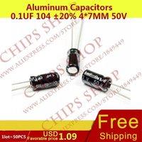 Wholesale Aluminum Capacitors uF mm V nF pF Diameter4mm