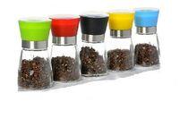 Wholesale Factory direct manual pepper grinder universal condiment bottle mill powder pepper pot kitchen supplies six colors
