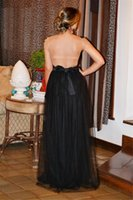 Wholesale 2016 Celebrity oscar red carpet gown A Line Black Lace Tulle Backless Prom Gowns Formal Custom Evening Party Club Wear
