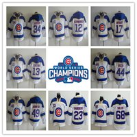 Wholesale 2016 World Series Champions patch Chicago Cubs Hoodie Rizzo Jersey Kris Bryant Lester Jake Arrieta Baseball Hooded Sweatshirt