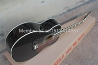 acoustic body styles - Chinese Factory Custom New arrival style J Super Jumbo black Acoustic Guitar in stock