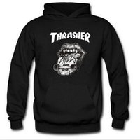 Wholesale 2017 New Fleece Autumn Winter Trasher Men s Hoodies Streetwear Skateboard Hip hop Hoody Thrasher Sweatshirt Men Women Sweat XXXL