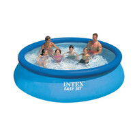 Wholesale Intex inflatable pools for adults Swimming Pool Summer Outdoor team play for person adult and PVC with Electric Air Pump