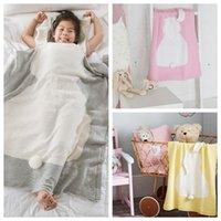 Wholesale Baby Blankets cartoon Rabbit Crochet Knitted For Bed Sofa Cobertores Mantas BedSpread Bath Towels Napping Blanket cm KKA1118