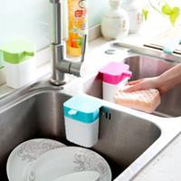 Wholesale Multifunction Kitchen Supplies Creative Dispensing Detergent Container Organization Green Home Bathroom Hand Sanitizer Organizer