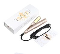 Wholesale DHL Fast Shoipping With Logo TYME Gold Titanium Plates Fast Hair Straightening Ceramic tYME Hair Curler Curling hair styler tools
