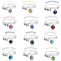 Wholesale Alex and Ani Bangle Charm Statement Bracelets Gold Silver Wiring Expandable Birthstone Pendant Bracelet Bangles Jewelry WH