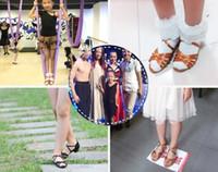 Wholesale Dance shoes Ballroom latin dance shoes for Girls Children kids HEEL cm student Christmas Gift Satin Free shoes bag BD603 Discount