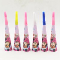 Wholesale pc Minnie Mouse Cartoon Trumpet Girl Kids Birthday Party Wedding Whistle Blowouts Decoration Event Favors Noise Maker Supplies