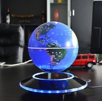 Wholesale 6 quot Magnetic suspended luminous color change globe display Best Business gift Magnetic floating globe magnetic levitation globe toys