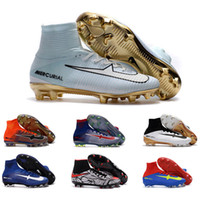 Wholesale 2017 Mens CR7 Mercurial x EA SPORTS Superfly FG Soccer Shoes Magista Obra Soccer Cleats Women Football Boots Youth Cristiano Ronaldo