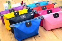 Wholesale 2016 New candy Cute Women s Lady Travel Makeup Bags Cosmetic Bag Pouch Clutch Handbag Casual Purses Dumpling type cosmetic gift purse DHL