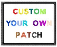 Wholesale Custom Embroidery Patch DIY Your Logo Patches Iron Velcro Brooch Magnetuc buckle Auxiliary cloth On The Back