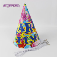 alphabet party favors - Print Alphabet Birthday Party Decoration Cute Cake Pattern Birthday Paper Hat Caps Party Favors Party Supplies